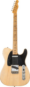 Musical Instruments:Electric Guitars, 1951 Fender Broadcaster Blonde Solid Body Electric Guitar, Serial #0499....
