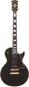Musical Instruments:Electric Guitars, 1956 Gibson Les Paul Custom Black Solid Body Electric Guitar,Serial # 6 5397....