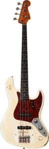 Musical Instruments:Bass Guitars, 1961 Fender Jazz Bass Olympic White Electric Bass Guitar, Serial # 55466....