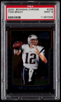 Football Cards:Singles (1970-Now), 2000 Bowman Chrome Tom Brady #236 PSA Mint 9....