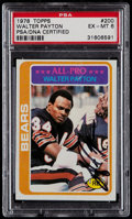 Football Cards:Singles (1970-Now), 1978 Topps Walter Payton #200 PSA EX-MT 6, Signed PSA/DNA....