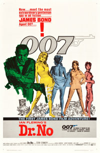 "Dr. No (United Artists, 1962). One Sheet (27"" X 41"") White Smoke Style"