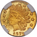 California Fractional Gold , 1872/1 25C Indian Round 25 Cents, BG-868, High R.4, MS67 ProoflikeNGC....