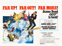 "On Her Majesty's Secret Service (United Artists, 1970). British Quad (30"" X 40"")"