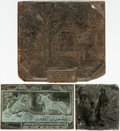 Books:Furniture & Accessories, [Early printing]. Group of Three Illustrated Printing Blocks.Undated, circa eighteenth-century. ... (Total: 3 Items)