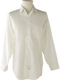 Music Memorabilia:Costumes, Buddy Holly Stage-Worn Dress Shirt. White polyester-cotton blend Arrow-brand dress shirt, owned and worn on stage by Holly,...