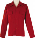 Music Memorabilia:Costumes, Buddy Holly Stage-Worn Wool Shirt. Red wool Ponderosa brand shirt,owned and worn on stage by Holly. In Excellent condition....