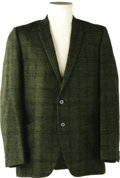 Music Memorabilia:Costumes, Buddy Holly Stage-Worn Suit Jacket. This stage-worn green with goldfleck Kuppenheimer wool suit jacket was owned and worn b...