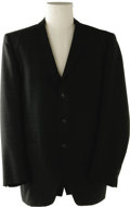 Music Memorabilia:Costumes, Buddy Holly Stage-Worn Black and Blue Suit Jacket. This stage-wornblack Julliard suit jacket with midnight blue sparkle fl...