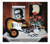 """Buddy Holly Artist Proof Signed by Maria Elena Holly. A 25"""" x 21"""" artists proof of the painting """"True Lov..."""