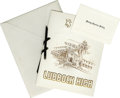 Music Memorabilia:Memorabilia, Buddy Holly High School Graduation Announcement with Card. This striking, elaborately printed and embossed invitation with ...