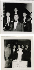 Music Memorabilia:Photos, Photos Taken with Buddy Holly's Camera. Two snapshots with Holly'shandwritten notations on the back. From a series of photo...