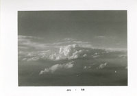 """Buddy Holly Photo. This 5"""" x 3.5"""" b&w cloudscape photo was snapped by Holly from the plane while he an..."""