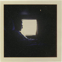 Buddy Holly Photo. A very beautiful color snapshot of Holly silhouetted against a window on a plane trip to Australia fo...