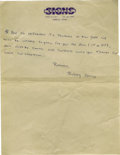 Music Memorabilia:Autographs and Signed Items, Buddy Holly Handwritten Letter. Undated letter on Sullivan Signsbusiness stationery, handwritten by Holly in blue ballpoin...