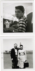 "Music Memorabilia:Photos, Photos Taken by Buddy Holly. Two snapshots by Holly, with hishandwritten notations on the back. One is dated ""Jan. 29 -- la..."