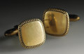 Music Memorabilia:Costumes, Buddy Holly Stage-Worn Gold Cuff Links. A nice pair of square goldcuff links, owned and worn on stage by Holly. In Excelle...