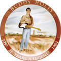 Music Memorabilia:Memorabilia, Buddy Holly Commemorative Plate Presented to Maria Elena. From alimited edition crafted in 1983 in memorial of the 25th ann...