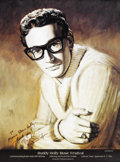 Music Memorabilia:Posters, Buddy Holly Music Festival Poster Signed by Artist. An attractiveposter from the September 4-7, 1996 Buddy Holly Music Fes...