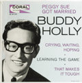 """Music Memorabilia:Recordings, """"Buddy Holly"""" EP Coral EC 81191 (1962). Even though this EP wasreleased some three years after Holly's death, it's just a t..."""