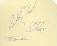 Buddy Holly and the Crickets Autographs. A Rock and Roll phenomenon until Holly's untimely death in an airplane crash in...
