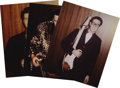 "Music Memorabilia:Photos, Buddy Holly, Richie Valens, and J. P. Richardson Photo Collection. These three rare color photographs titled ""Six Days Befo... (Total: 3 Items)"