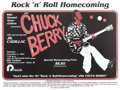 "Music Memorabilia:Posters, Chuck Berry ""Rock 'n' Roll Homecoming"" Concert Poster (1983) It'stime for the annual Homecoming event at Boise State Univer..."