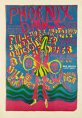 "Music Memorabilia:Posters, Big Brother and the Holding Company ""Phoenix Dance"" FillmoreConcert Poster (1967) This rare poster is for a benefit show at..."