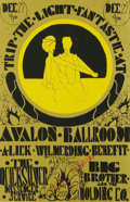 """Music Memorabilia:Posters, Big Brother and the Holding Company """"Trip the Light Fantastic""""Avalon Concert Poster (Lick Wilmerding, 1967) A rare poster f..."""