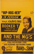 Music Memorabilia:Posters, Booker T and the MG's Tour Poster (undated, circa 1967) The king ofthe Hammond Organ, Booker T and the fabulous MG's toured...