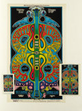 Music Memorabilia:Posters, Butterfield Blues Band Concert Poster, Postcard, and Ticket #BG166Group (Bill Graham, 1969). Originally from the mean stree...