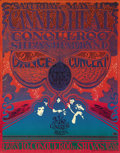 "Music Memorabilia:Posters, Canned Heat Vulcan Gas Company Concert Poster VG21 (1968) Austin,Texas' original ""hippie hangout"" was the Vulcan Gas Compan..."