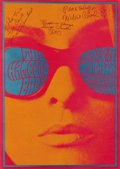 Music Memorabilia:Autographs and Signed Items, Chambers Brothers Matrix Autographed Concert Poster (Neon Rose,1967) If you were listening to Rock radio in the late 1960s,...