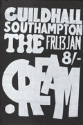 Music Memorabilia:Posters, Cream Southampton Concert Poster (1967) Here's one act that livedup to its name: guitarist Eric Clapton, bassist Jack Bruce...