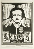 "Music Memorabilia:Posters, Daily Flash ""Edgar Allan Poe"" Avalon Concert Poster FD-31 (FamilyDog, 1966) This is the sought-after ""Wrong Date"" version o..."