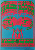 Music Memorabilia:Posters, The Doors Avalon Concert Poster FD64 (Family Dog, 1967). A beautiful poster from the psychedelic pen of Victor Moscoso. Thi...