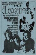 "Music Memorabilia:Posters, The Doors ""Happening #3"" Fresno Concert Handbill (1968) A scarce handbill featuring ""psyched-out"" pictures of The Doors. Joi..."