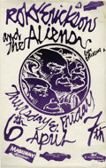 Music Memorabilia:Autographs and Signed Items, Roky Erickson and the Aliens Signed Mabuhay Gardens Concert Poster(1978) Former 13th Floor Elevators frontman Roky Erickson...