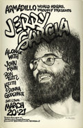 "Music Memorabilia:Posters, Jerry Garcia Armadillo World Headquarters Concert Poster (1982)This 11.5"" x 17.5"" poster for a solo appearance by the legen..."
