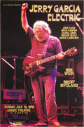 Music Memorabilia:Posters, Jerry Garcia Electric Greek Theater Concert Poster (Bill Graham,1988) On nights off from the Grateful Dead, Jerry Garcia tr...