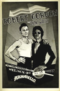 Music Memorabilia:Posters, Robert Gordon with Link Wray Armadillo Concert Poster (1977) At theheight of the late '70s punk rock movement, one pompadou...