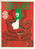 "Music Memorabilia:Posters, Grass Roots ""Sin Dance"" Avalon Concert Poster FD-6 (Family Dog,1966) Chet Helm's Family Dog had been putting on shows for o..."
