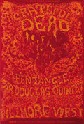 Music Memorabilia:Posters, Grateful Dead - Fillmore West Concert Poster #BG162 (Bill Graham,1968) A spooky image from the pen of Lee Conklin has the G...