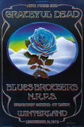 """Music Memorabilia:Posters, Grateful Dead """"Blue Rose"""" Winterland Concert Poster (1978) One ofthe more famous posters for both Bill Graham Presents and ..."""