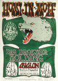 Music Memorabilia:Posters, Howlin' Wolf Avalon Concert Poster FD-27 (Family Dog, 1966) What ashow this must have been for fans of Blues and Rock! The ...