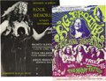 Music Memorabilia:Posters, Janis Joplin Handbills, Group of 2 (1968-70) Janis Joplin was aone-of-a-kind singer. No one belted out a bluesy rock tune q...(Total: 2 )