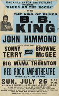 "Music Memorabilia:Posters, B. B. King ""Blues on the Rocks"" Red Rocks Concert Poster (circa1975). They call him the ""King of the Blues"", and here's a t..."