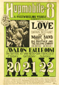 "Music Memorabilia:Posters, Love ""Humpmobile-8"" Avalon Concert Poster FD9 (Family Dog, 1966) Atough to find first printing from the Family Dog numbered..."