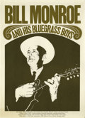 "Music Memorabilia:Posters, Bill Monroe and his Bluegrass Boys Concert Poster (1966). After thesuccess of the feature film ""O Brother Where Art Thou,"" ..."