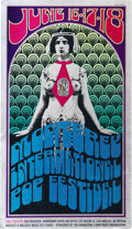 Music Memorabilia:Posters, Monterey International Pop Festival Poster (1967) The Summer ofLove was never more beautiful than at the incredible Montere...